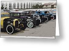 Hot Rod Row Greeting Card
