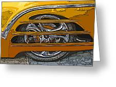 Hot Rod Wheel Cover Greeting Card