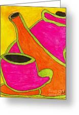 Hot Tea... Cold Juice Greeting Card