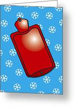 Hot Water Bottle Greeting Card