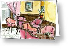 Hotel Ascot Lounge Greeting Card