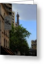 Hotel Eiffel Greeting Card