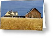 House And Barn Greeting Card