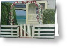 House By The Gulf Greeting Card