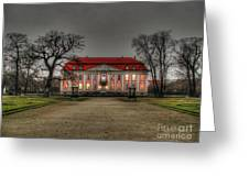 House Illuminated And With Trees Branches Greeting Card