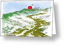 House On The Hill-winter Greeting Card