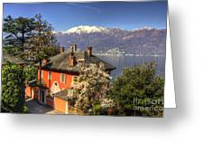 House On The Lake Front Greeting Card