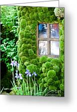House With Moss Walls Greeting Card