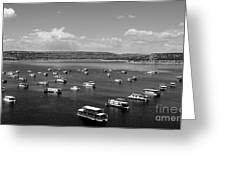 Houseboat Community Greeting Card