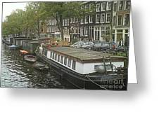 Houseboats Of Rotterdam Greeting Card