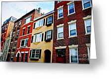 Houses In Boston Greeting Card
