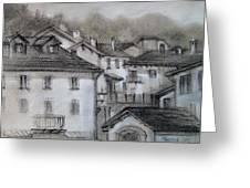 houses in Fiumalbo Greeting Card