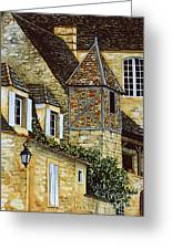 Houses In Sarlat Greeting Card
