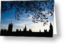 Houses Of Parliament Silhouette Greeting Card