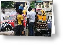 How Market Lagos Greeting Card