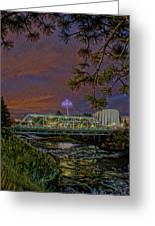 Howard St Bridge Pavillion Imax Greeting Card