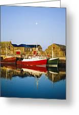 Howth Harbour, County Dublin, Ireland Greeting Card