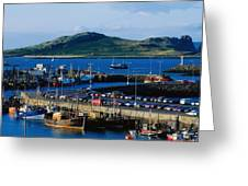 Howth Harbour & Irelands Eye, Co Greeting Card
