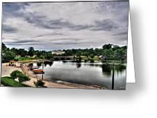 Hoyt Lake Delaware Park 0001 Greeting Card