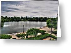 Hoyt Lake Delaware Park 0002 Greeting Card