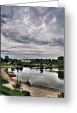 Hoyt Lake Delaware Park 0003 Greeting Card