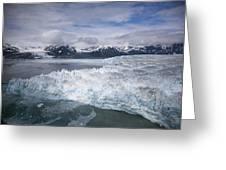 Hubbard Glacier Encroaching On Gilbert Point Greeting Card