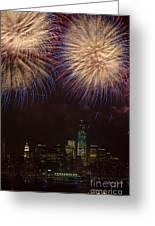 Hudson River Fireworks Xi Greeting Card