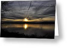 Hudson River Sunset Greeting Card