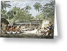 Human Sacrifice In Tahiti, Artwork Greeting Card