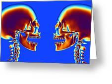 Human Skulls Greeting Card