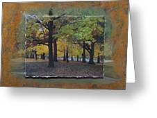 Humboldt Park Trees Layered Greeting Card
