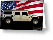 Hummer Patriot Greeting Card