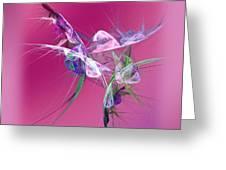 Hummingbird Fantasy Abstract Greeting Card