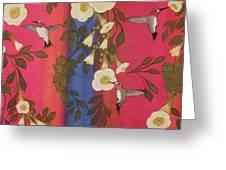 Hummingbird Picnic Greeting Card