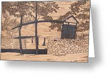 Humpback Covered Bridge Greeting Card by Stan Shirk