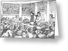 Humphrey Davy Lecturing, 1809 Greeting Card by Science Source