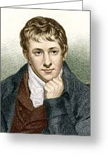 Humphry Davy, English Chemist Greeting Card
