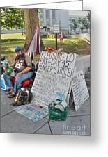 Hunger Strike Greeting Card