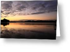 Hungry Fish At Sunrise Greeting Card