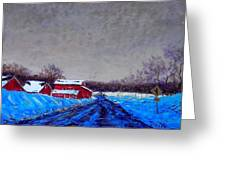 Hunterdon County Barns In Winter Greeting Card