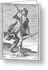 Hunting Horn, 1723 Greeting Card