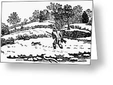Hunting: Winter, C1800 Greeting Card