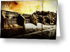Huron River Dam Greeting Card