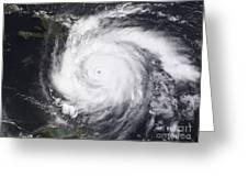 Hurricane Dean In The Atlantic Greeting Card