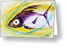 Hurricane Fish 7 Greeting Card