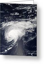 Hurricane Gordon Over The Atlantic Greeting Card