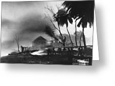 Hurricane In The Caribbean Greeting Card by Fritz Henle and Photo Researchers