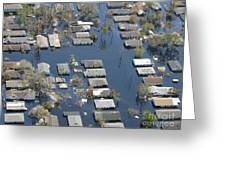 Hurricane Katrina Damage Greeting Card