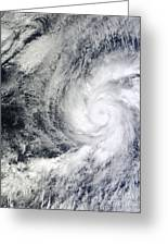 Hurricane Kenneth Off The Coast Greeting Card