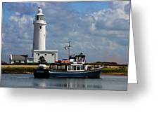 Hurst Point Lighthouse Greeting Card